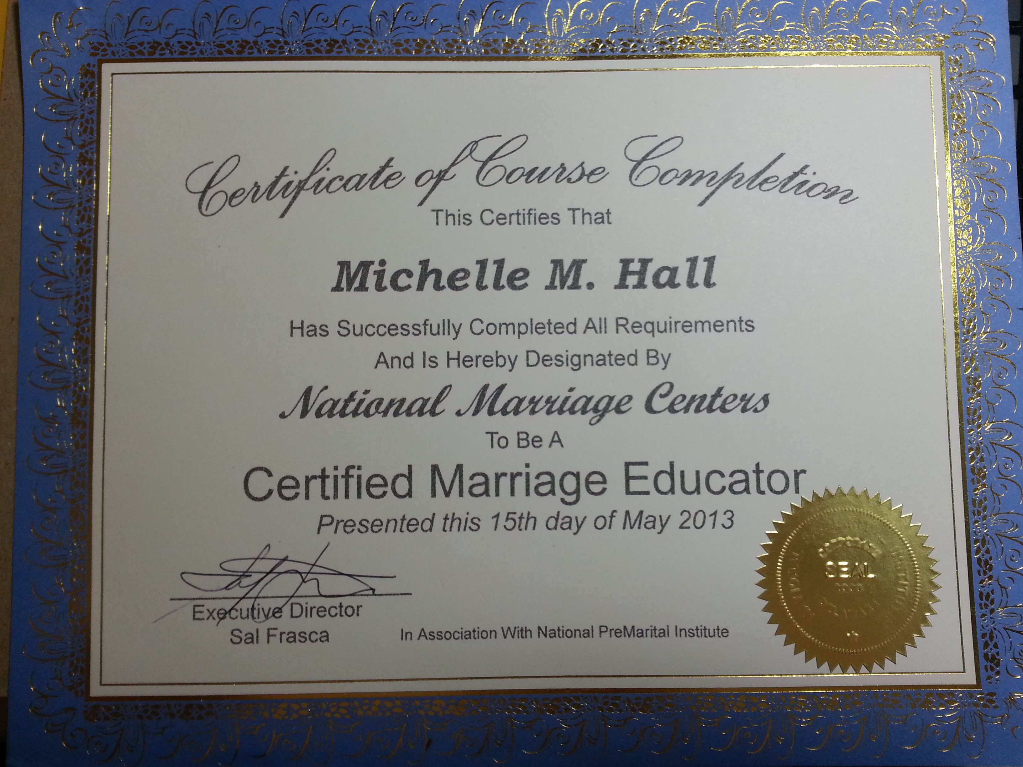Pre Marriage Education Course For Brides And Grooms